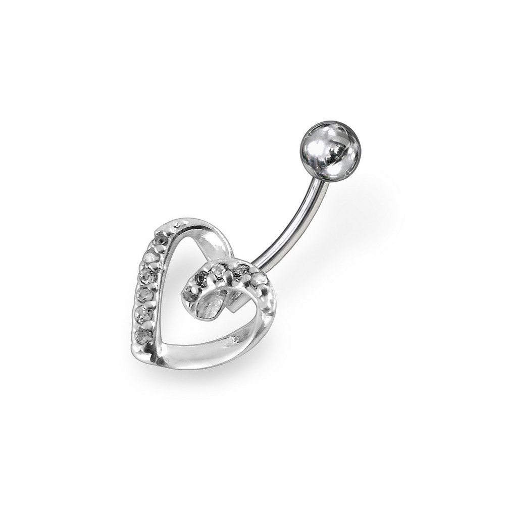 Surgical Steel And 925 Sterling Silver Non Dangle Belly Button Ring Wicked Alternative Body Fashion