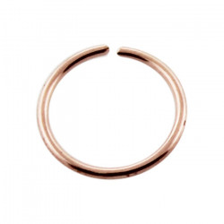Solid 14K Rose Gold Continuous Nose Hoop