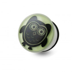 Acrylic Glow in the Dark Owl Single Flare Plug