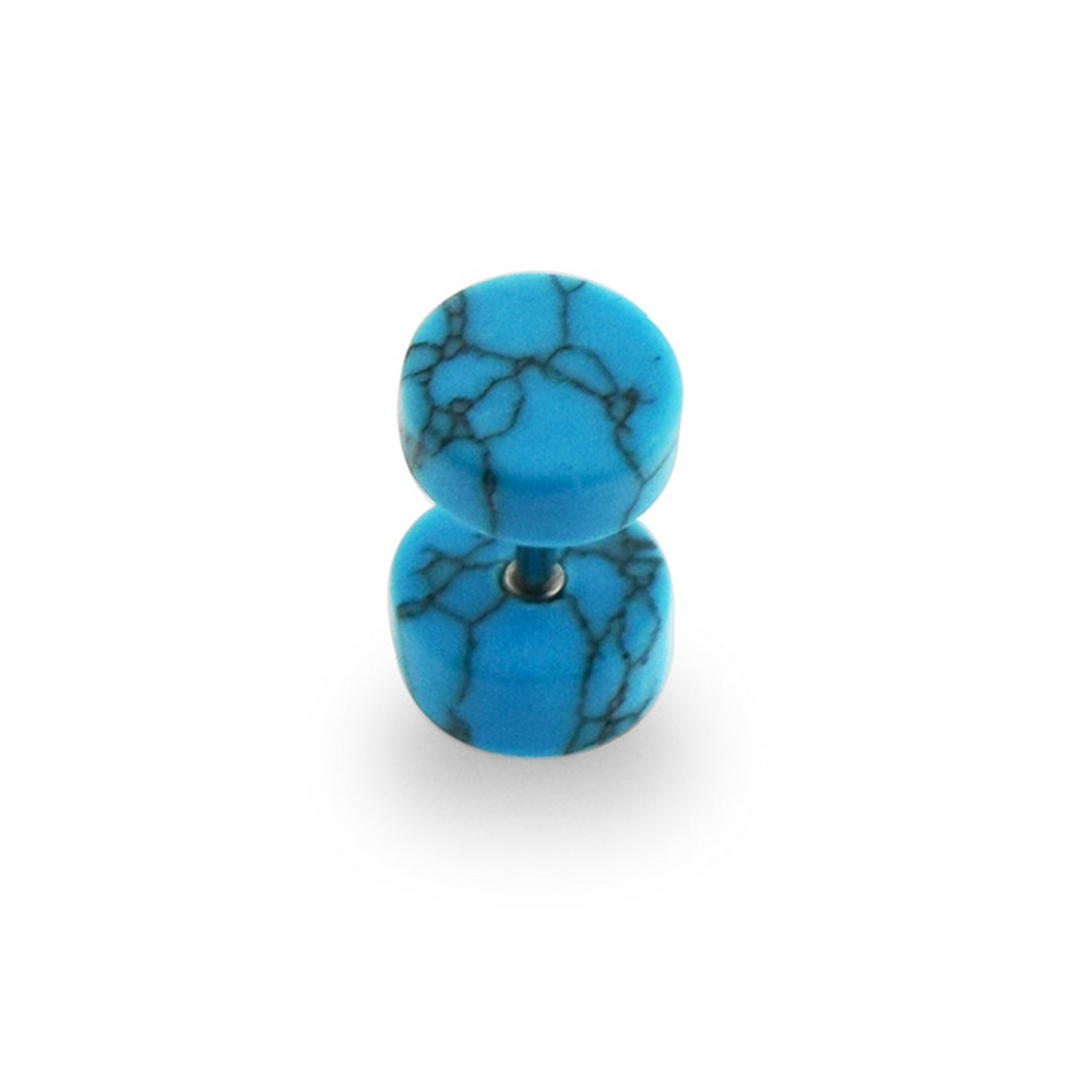 Turquoise Stone False Plug