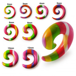 Candy Stripe Acrylic Spiral