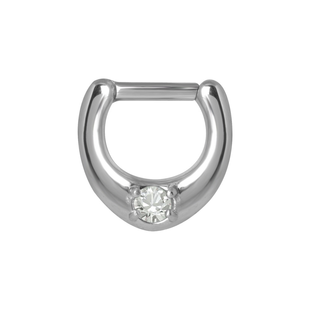 Surgical Steel Single Jewelled Septum Clicker