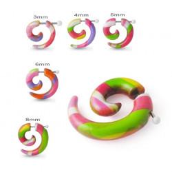 Candy Stripe Acrylic False Spiral