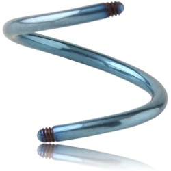 Anodized Surgical Steel Externally Threaded Spiral Pin