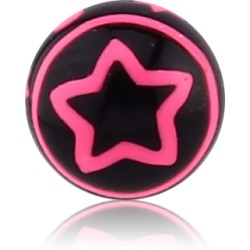 External Thread Acrylic Cut Out Star Ball
