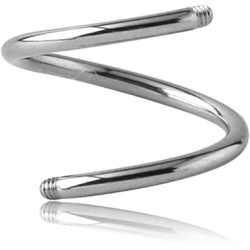 Titanium Externally Threaded Spiral Pin