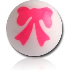 External Thread Acrylic Pretty Bow Ball