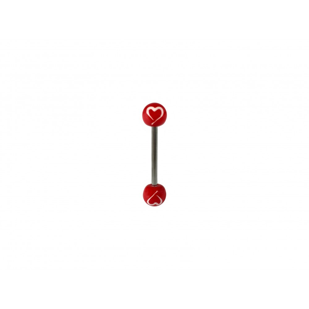 Hand Painted Acrylic and Surgical Steel Tongue Barbell