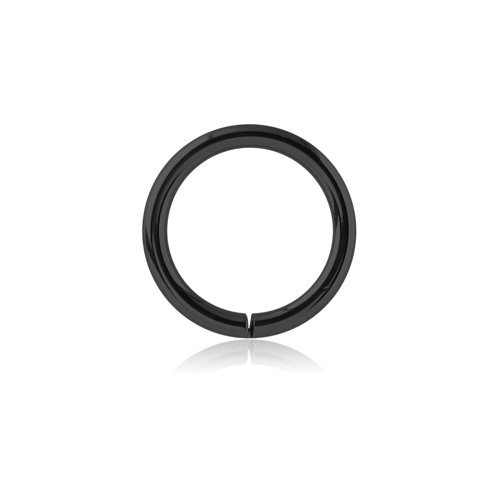 Black Surgical Steel Continuous Nose Hoop
