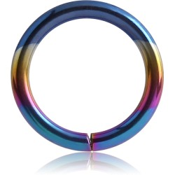 Anodized Surgical Steel Continuous Nose Hoop