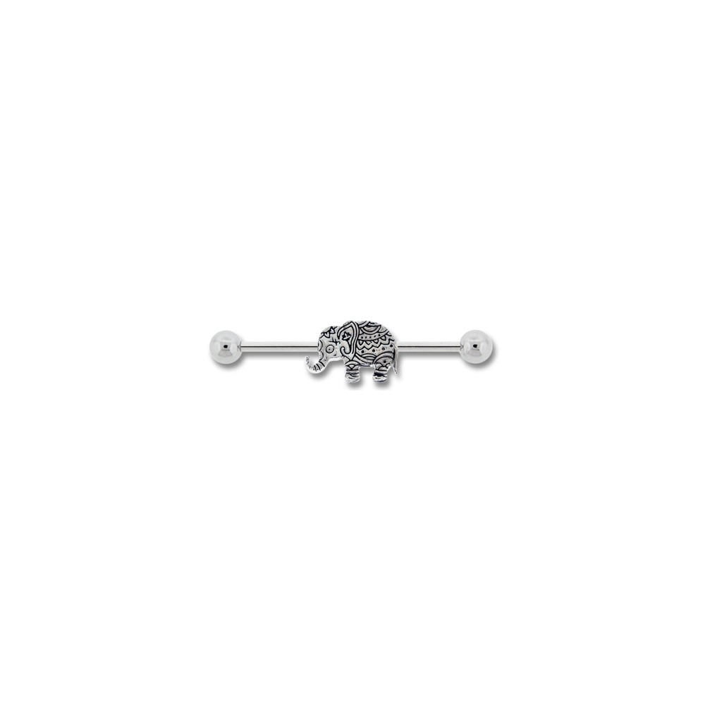 Surgical Steel Bindi Elephant Industrial Barbell