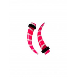 6g - 0g Striped Curved Acrylic Expander