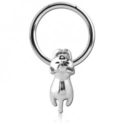 Surgical Steel CBR with Hanging Cat Insert