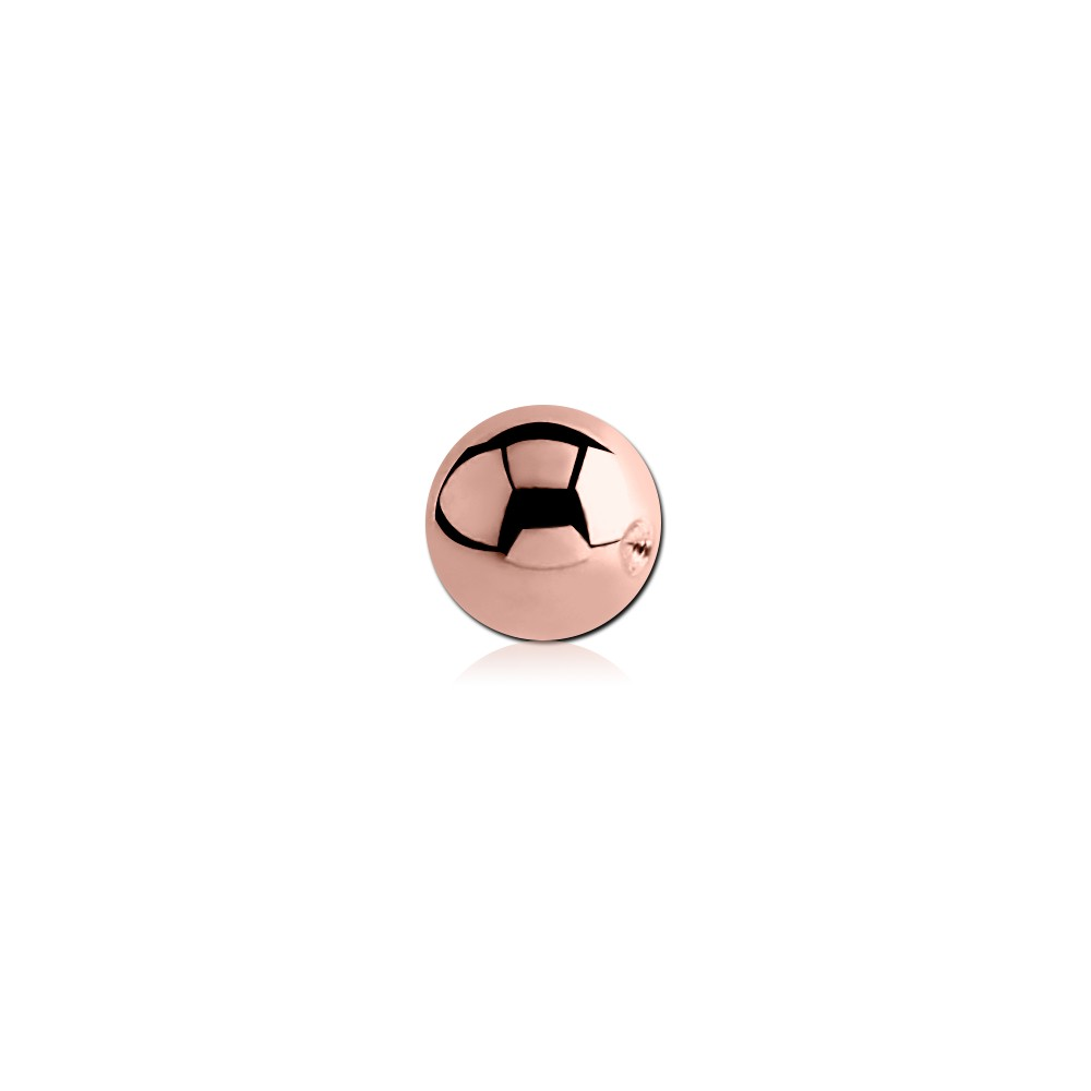 Rose Gold Plated Surgical Steel Dimpled Ball for CBR
