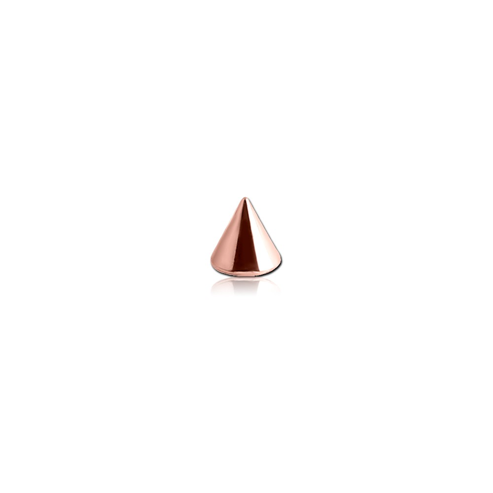 Rose Gold Plated Surgical Steel External Thread Spike