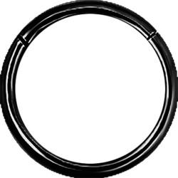 Black Surgical Steel Hinged Segment Nose Hoop - 20g