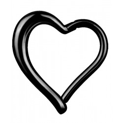 Black Surgical Steel Hinged Heart Clicker