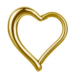 Gold Plated Surgical Steel Hinged Heart Clicker