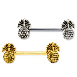 Double Pineapple Nipple Barbell