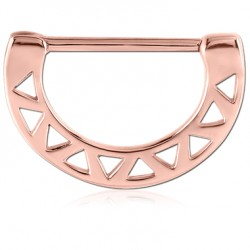 Rose Gold Surgical Steel Triangle Cut out Nipple Clicker