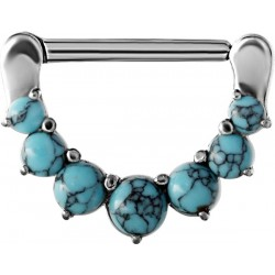 Surgical Steel Claw Set Turquoise Stone Nipple Clicker