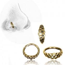 Brass Nose Hoop with Loop Design