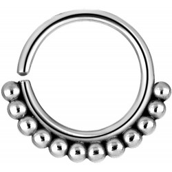Surgical Steel Ball Design Continuous Nose Hoop