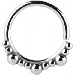 Surgical Steel Multi Size Ball Continuous Nose Hoop - 20g & 18g