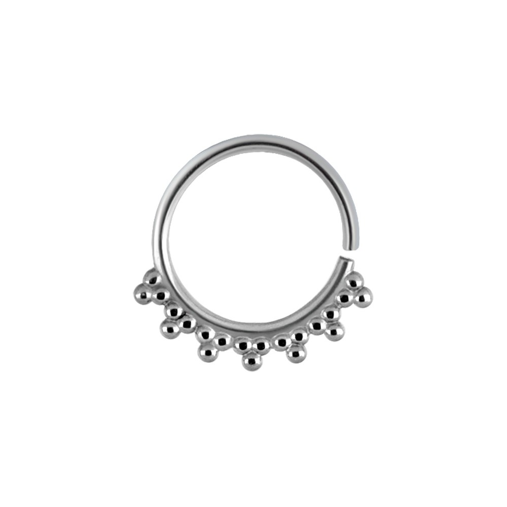 Surgical Steel Multi Ball Continuous Nose Hoop - 20g & 18g