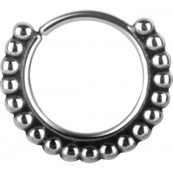 Surgical Steel Full Ball Design Continuous Nose Hoop - 20g & 18g