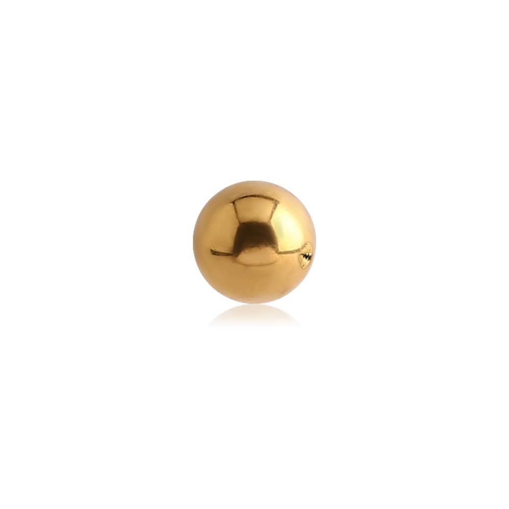 Gold Plated Surgical Steel External Thread Ball