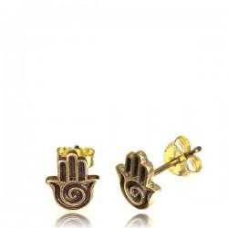 18g Brass Ear Studs