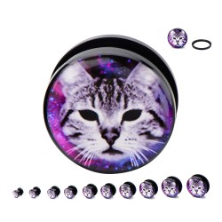 Galaxy Cat Acrylic Plugs
