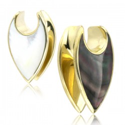 Brass Saddle Ear Weight with Two Tone Shell