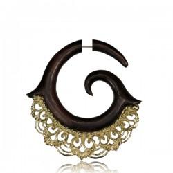 Narra Wood False Spirals with Intricate Brass Details