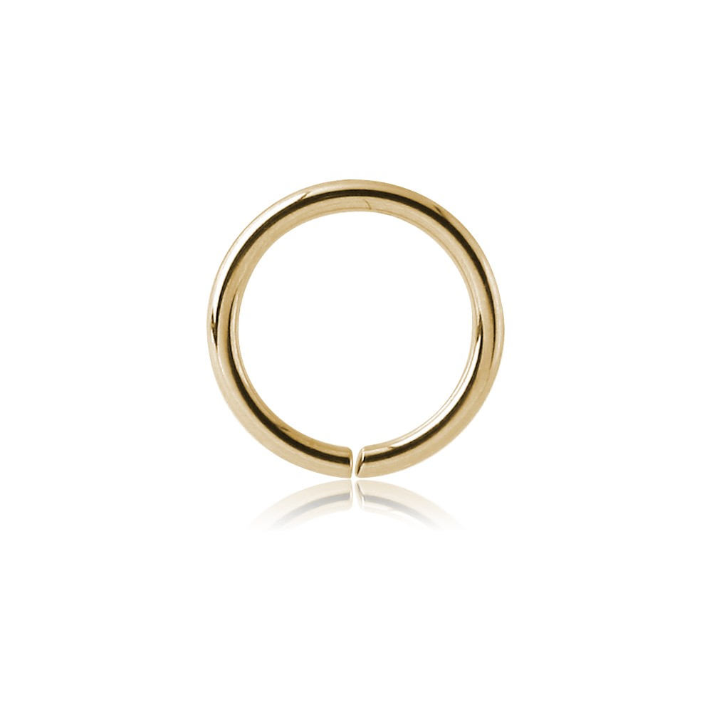 22g Gold Plated Sterling Silver Nose Hoop