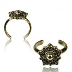 Brass Flower Toe Ring