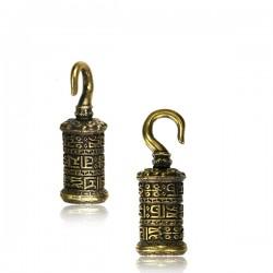 Brass Prayer Wheel Ear Weights