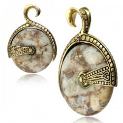 Brass & Stone Wheel Ear Weights