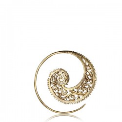 Brass Ear Spirals
