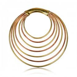 Handmade Brass Ear Spirals with Multi Rings