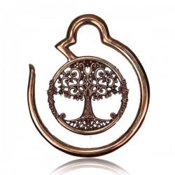 Tree of Life Rose Bronze Brass Ear Spirals