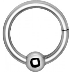 Surgical Steel Hinged Segment Ring with Ball