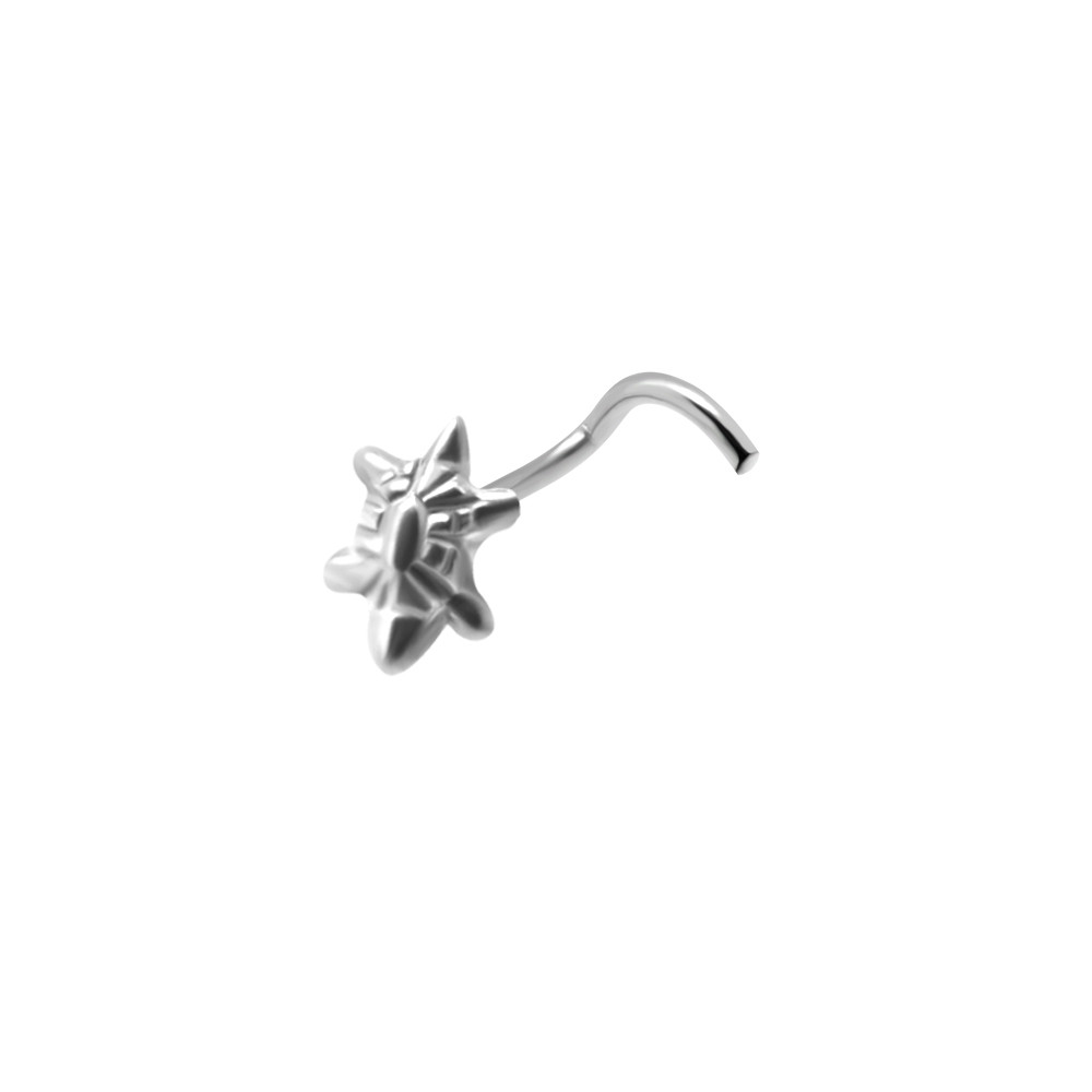 925 Sterling Silver Turtle Nose Screw